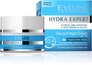 Eveline Hydra Expert Day and Night Cream 55+