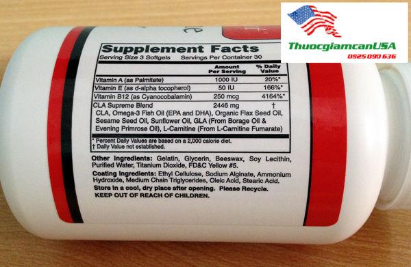 CLA Supreme 4.2 - Viên giảm mỡ bụng CLA 4.2 Supreme giảm béo bụng nhanh