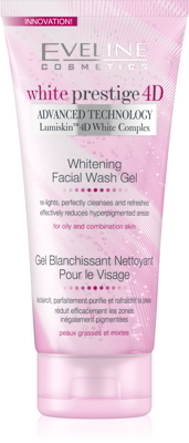Gel rửa mặt trắng da Eveline White prestige 4D