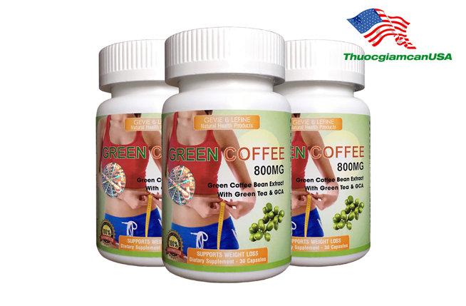 Cà phê giảm cân Green Coffee 800mg - Green Coffee Bean Extract 800mg chính hãng