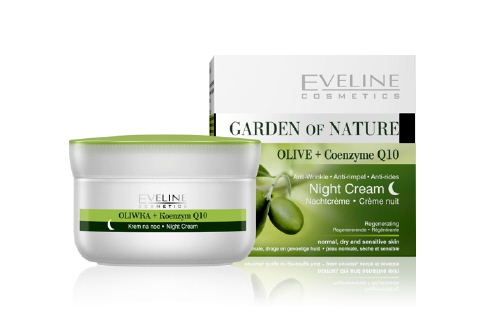 Eveline Garden of Nature Olive + Q10 Night Cream - Kem dưỡng Đêm