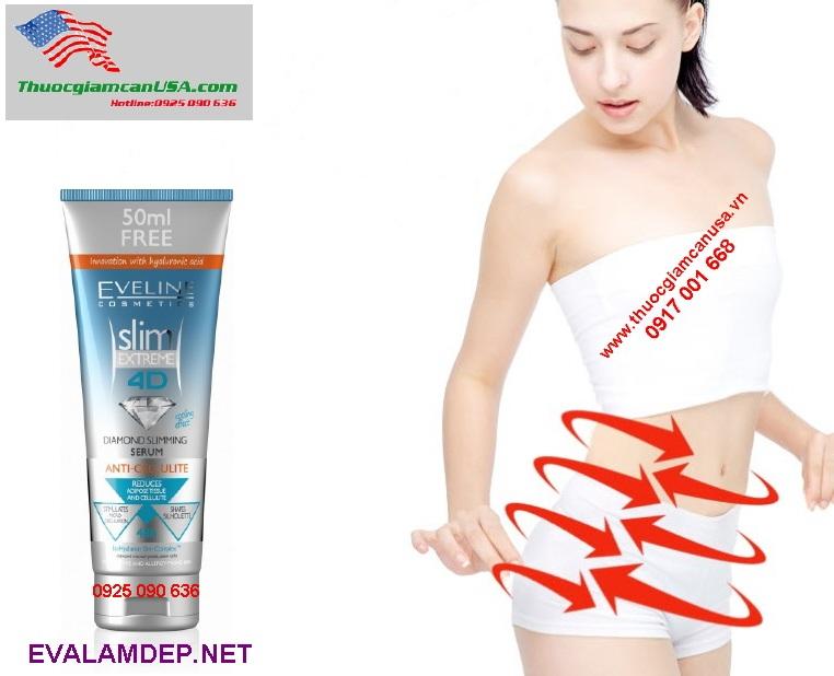 Kem giảm béo Eveline Slim Extreme 4D tinh thể Kim Cương