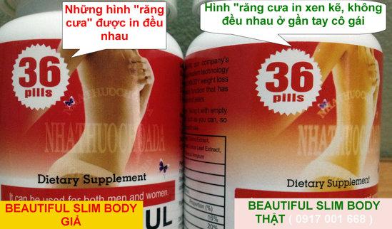 Phân biệt Beautiful Slim Body Thật Giả