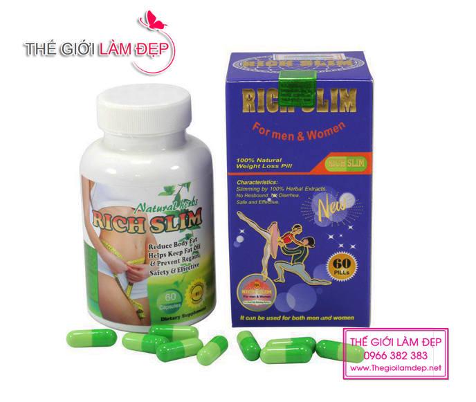 Rich Slim Usa - Viên giảm cân Rich Slim Usa hiệu quả tốt nhất của Mỹ