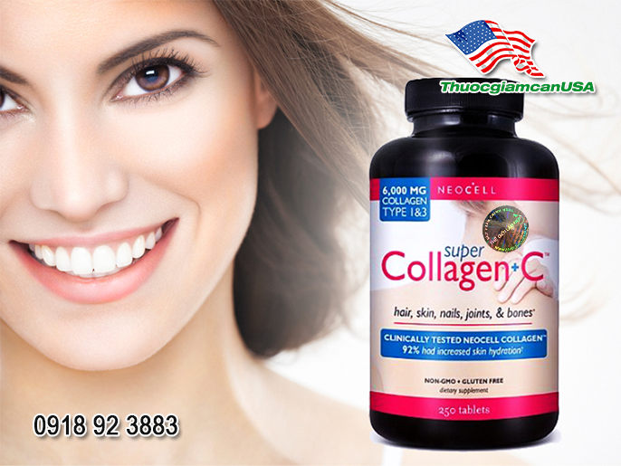 Super Collagen + C-type 1 & 3 Loại 250 viên